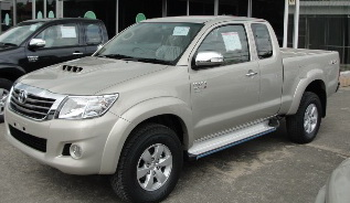 2012 Toyota Hilux Vigo in new Silky Gold Color